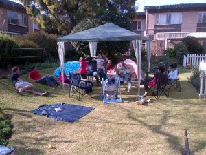 Our last braai at Linden Hill Gardens as tenants before we moved to our new little place.